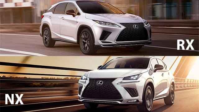 مقارنة بين لكزس RX 2021 و لكزس NX 2021